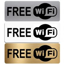Free WiFi-WITH IMAGE-Aluminium Metal Sign-Door,Notice,Shop,Office,Secure,Internet